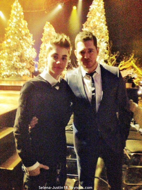 VENDREDI 4 NOVEMBRE                                                 --                                                 Justin Biber  a posté une nouvelle photo sur twitpic , Justin.B : @ michaelbuble Canadiens nous aiment , quelques noël =) ;) .