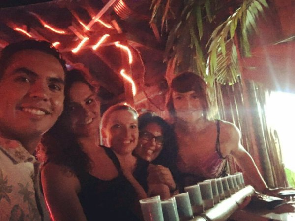 Playa del Carmen - cactus - Mexico - j'ai gagné un bikini - notre logo - pool party - anniversaire Carole & Rodrigo @ L' Ambassade