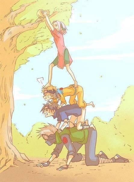 moi naruto sasuke et kakashi mdr ^^