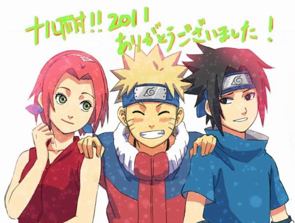 moi naruto et sasuke vive l'equipe 7 !!!!