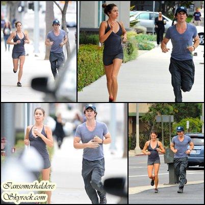 Ce samedi 19 juillet Ian a été aperçu faisant un jogging avec Nikki Reed à Los Angeles
