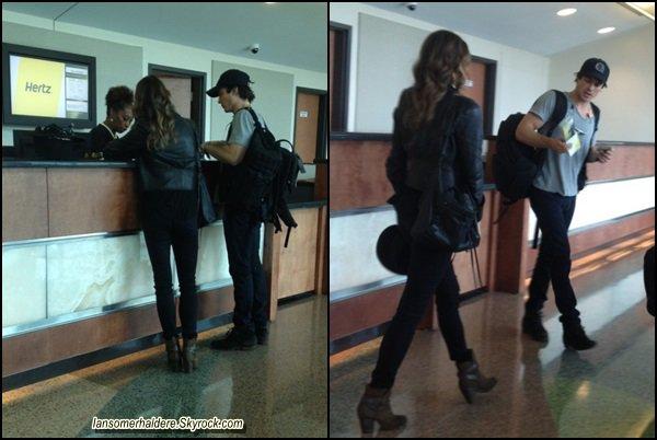 Ian et Nikki ont été vus à l'aéroport à La Nouvelle-Orléans ce 29 août .