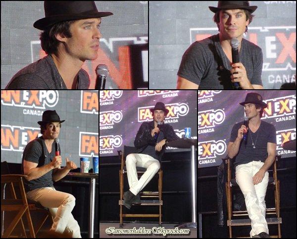 Du 28 au 31 août le beau Ian était présent à un expo à Toronto .