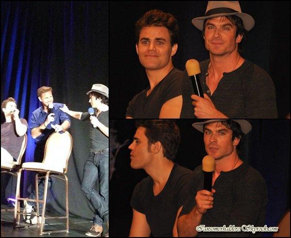Ian,Paul et Matt ont participé a une convention à Las Vegas ce 13 septembre.