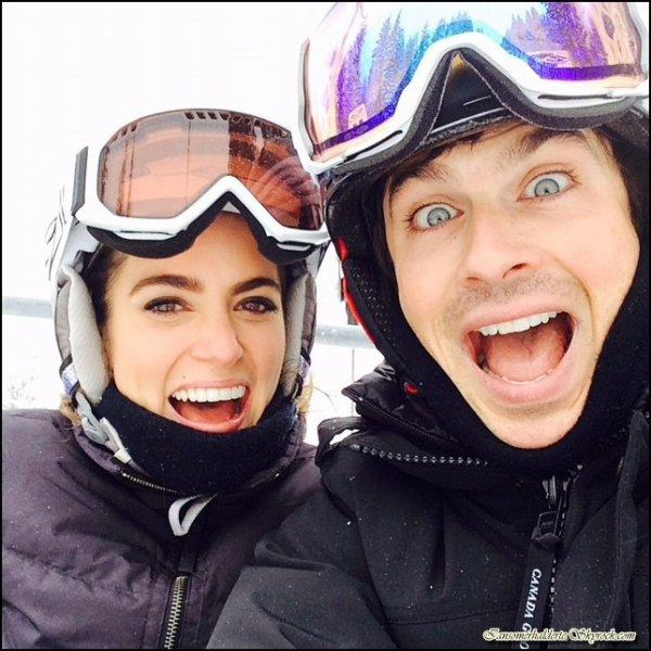 Le beau Ian a posté une photo sur Instagram avec la belle Nikki au ski