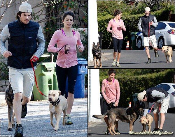 Ian et Nikki ont été vu entrain de faire du jogging à L.A