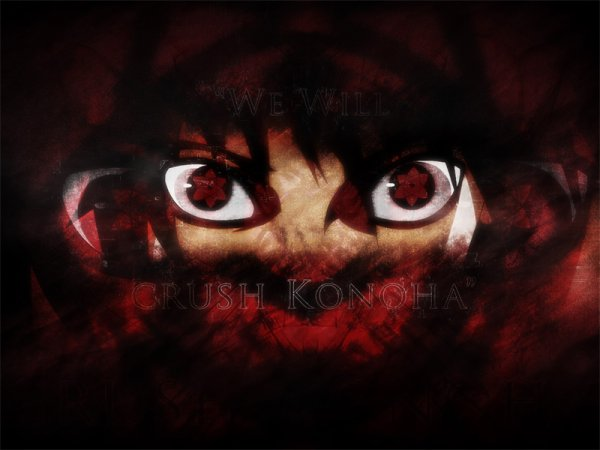 """Nous allons détruire Konoha.""Sasuke."