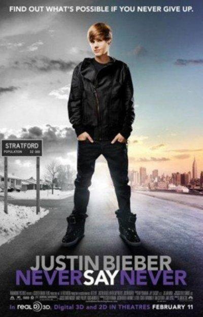 """Justin Bieber : Découvrez l'affiche inédite du film """"Never Say Never"""" !"""
