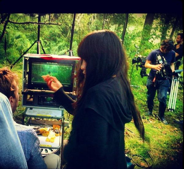 Images prises pendant le tournage du clip