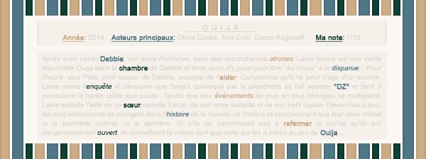 ■ ■ ■{ Article numéro o2 } - ___ Ouija  Picture / Décoration