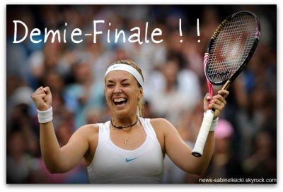 Demie-Finale pour Sabine à Wimbledon 2011