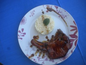 Côte de Porc au miel et au curry