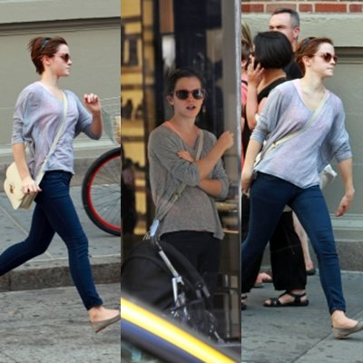 Emma fait du Shopping a Soho .