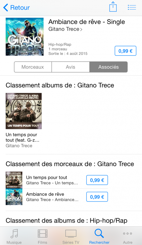 Singles de GITANO TRECE disponibles sur ITunes !