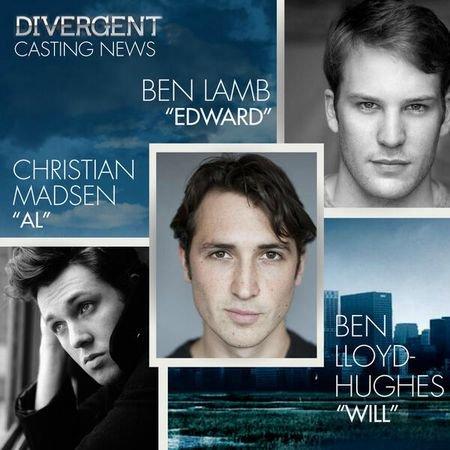 Divergent - Le film : Al, Edward et Will castés !