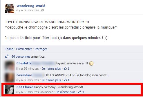 Wandering-World fête ses 3 ans !!!