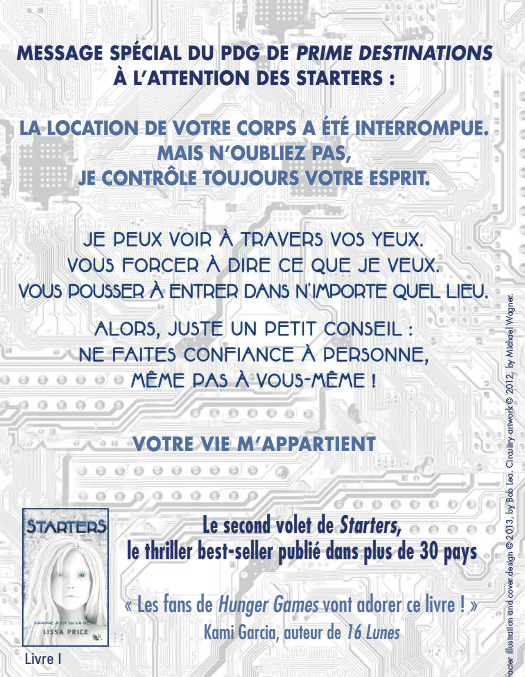 Extrait : Starters Tome 2 - Enders de Lissa Price