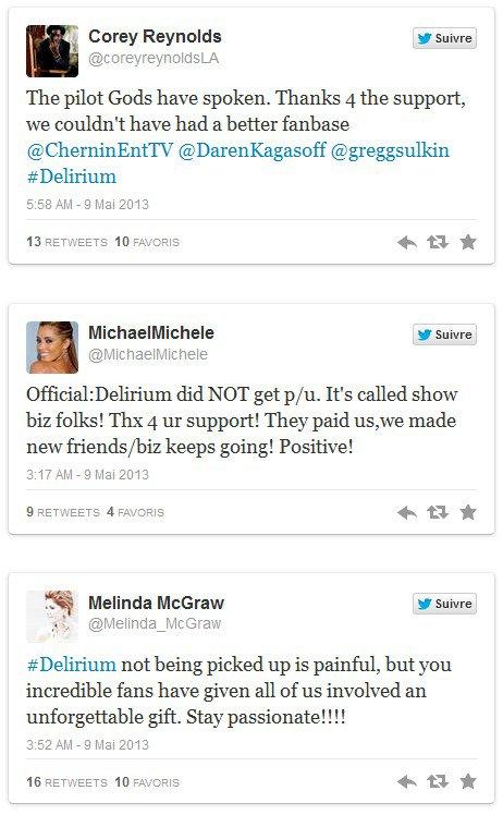 Delirium - La série TV : Le pilote a été refusé !