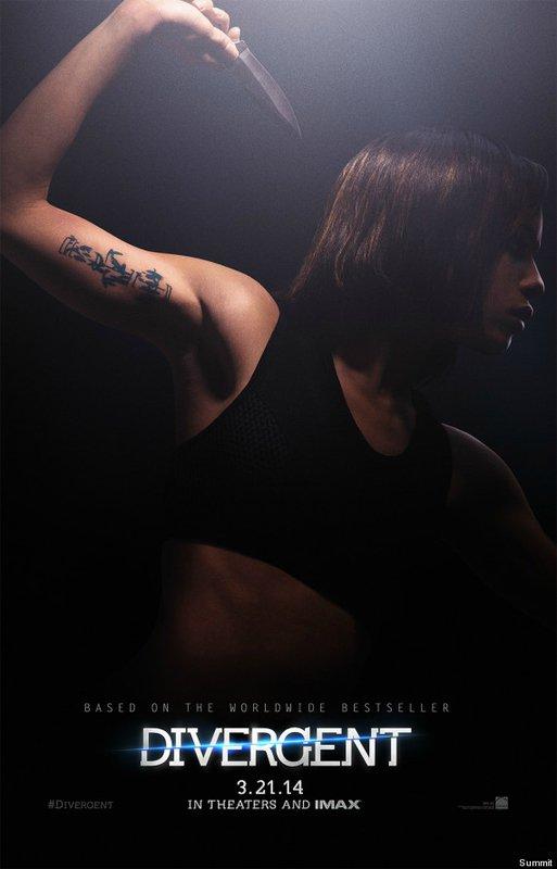 DIVERGENT - LE FILM : les affiches des personnages