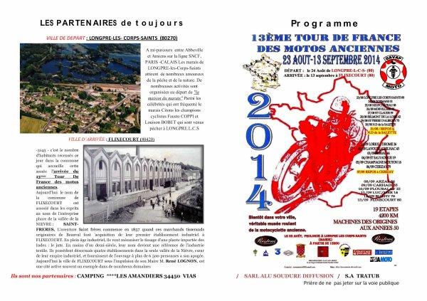 TOUR DE FRANCE 2014   PROGRAMME