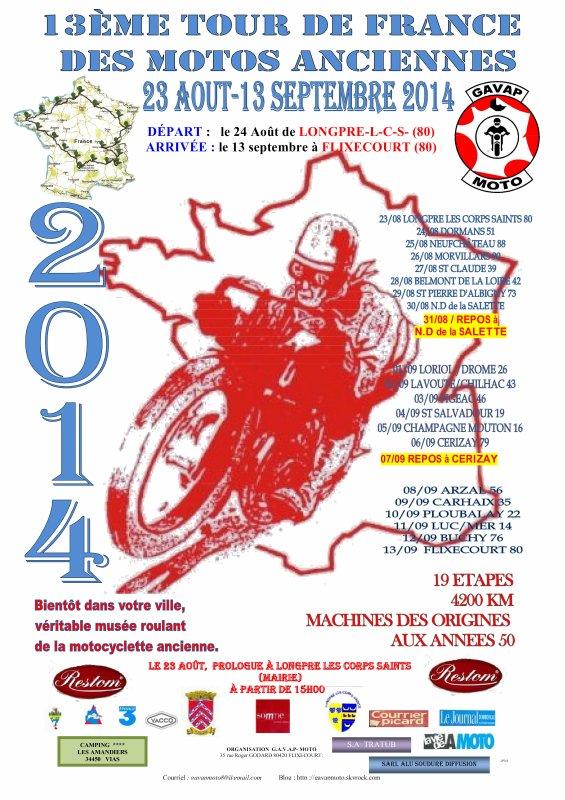 13ème TOUR DE FRANCE DES MOTOS ANCIENNES