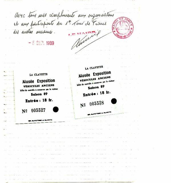 1er TOUR DE FRANCE DES MOTOS ANCIENNES ETAPE 3