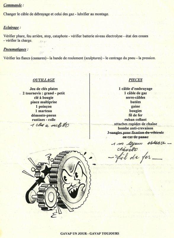 TOUR DE FRANCE DES MOTOS ANCIENNES ( CONSEILS AVANT DEPART)