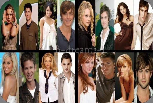 Description des personnages du casting .