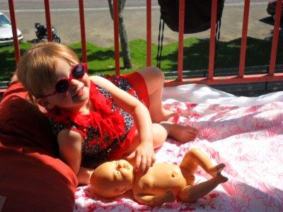 Mélody bronze avec son bébé