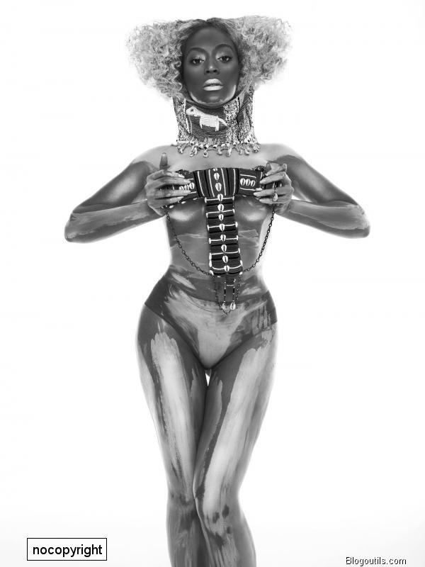 Beyoncé : Nue et couverte de peinture pour Flaunt Magazine (Photos)