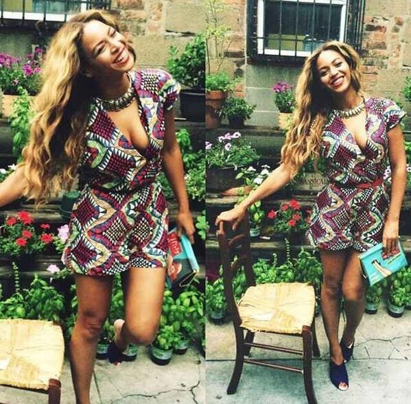 Beyoncé en famille et heureuse