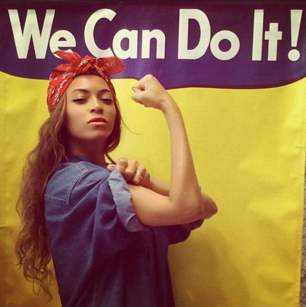 MICHELLE OBAMA ET SES FILLES S'ÉCLATENT AU CONCERT DE BEYONCÉ ET JAY-Z  ,Beyoncé joue les icônes féministes sur Instagram