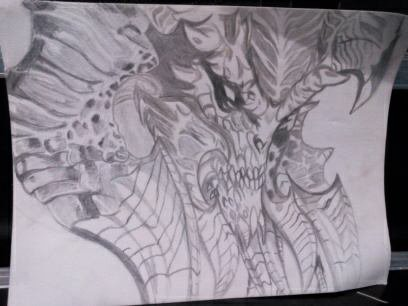 "Dessin de demon""ψ(`∇´)ψ"