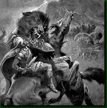 Légendes du loup nordique destructeur