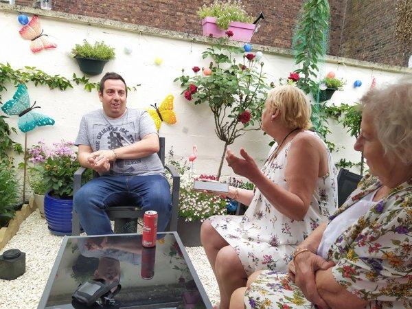 Nos amies : Patricia et Renée chez nous le samedi 3 juillet 2021 ( 2 )
