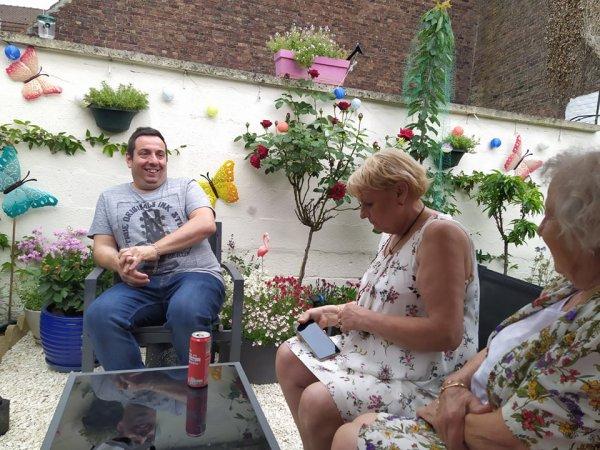 Nos amies : Patricia et Renée chez nous le samedi 3 juillet 2021 ( 3 )