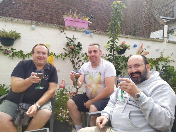 Nos amis du Pas de Calais Nicolas et Eric chez nous le 5 aout 2021 ( 2 )