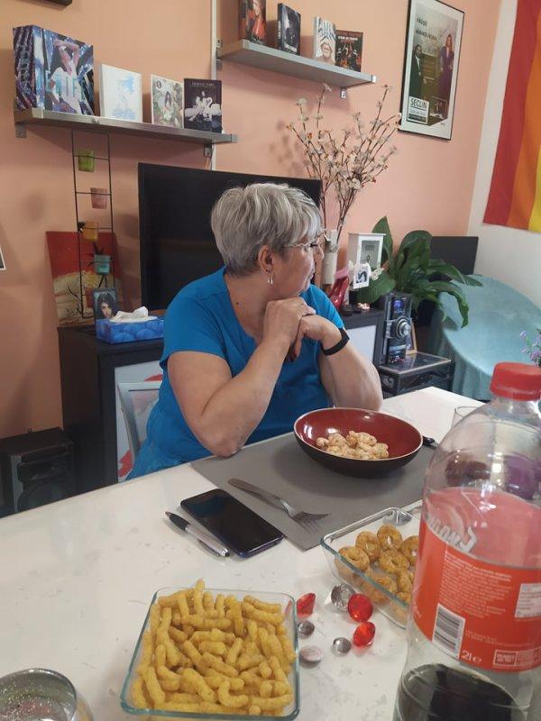 Christine , la maman de Fabrice chez nous le 7 aout 2021