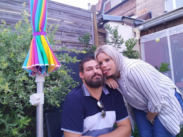 Jordan et Delphine et Benoit chez nous le 8 aout 2021
