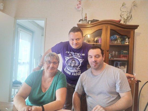 Chez la maman de Fabrice Christine et Anthony son frère le 22 aout 2021 ( 1 )