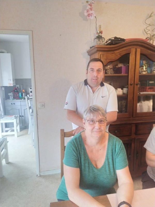 Chez la maman de Fabrice Christine et Anthony son frère le 22 aout 2021 ( 2 )