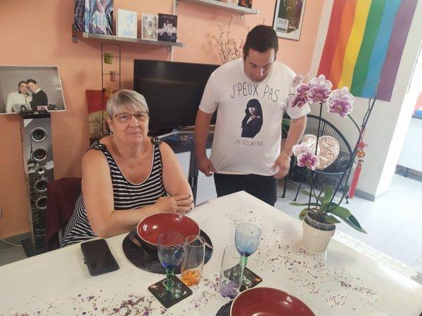 La maman de Fabrice et nos amis Mael et Emmeric et Juliette chez nous le 4 et 5 Septembre 2021 ( 1 )