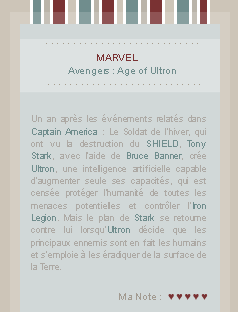 x x x Avengers : Age of Ultron sur BreatheYourLifeIntoMe.skyrock.com  » The war has begun and we are cruelly short of men _____________________________________________Création || Décoration