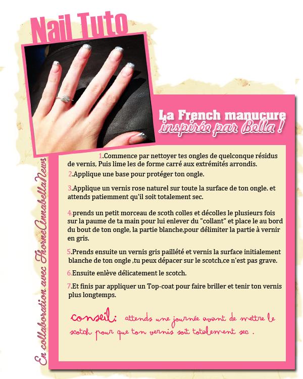 Tuto manucure: La frenc manucure selon Bella !