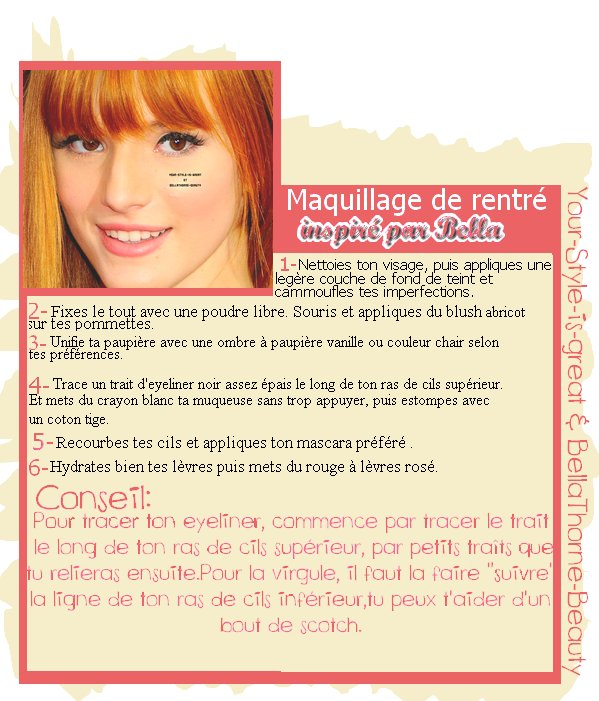 Semaine back to school: Tuto makeup en collaboration avec Your-style-is-great