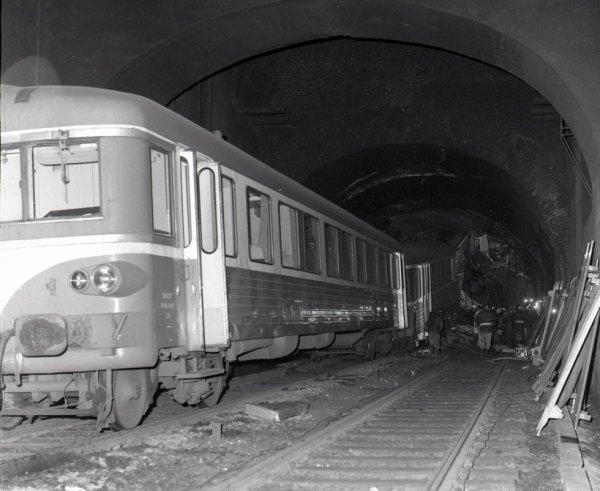 Le 16 juin 1972 a 20 h 55  la voute du tunel de Viery tombe