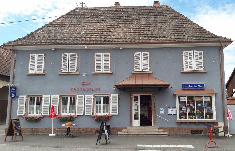 Restaurant le Gluck et la boutique l'atelier du chef  a Illhaeusern qui nous prête un petit local