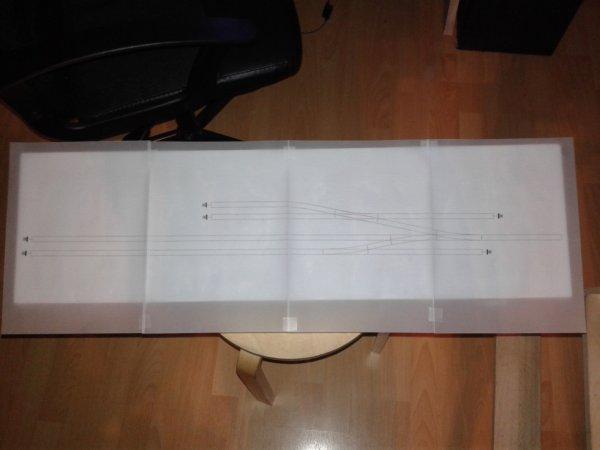 Impression du plan de voie sur papier calque pour voir ce que sa donne