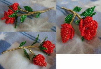 zoeufs stenboden 9205 + rose perle de rocaille fleurs - bouquets avec bouton de rose tuto russe (biser.info)