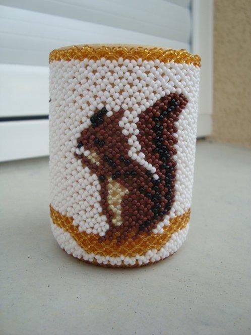Pot à crayon écureuil